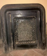 Huge Antique Wrought Iron Grate Fireplace Vent Cover Victorian Late 1880's