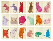 New Andy Warhol 25 Cats Named Sam Art Print Poster Sketches Canvas Free Shipping