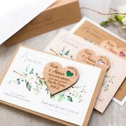 Save The Date Heart Magnet With Cards Luxury Wooden Save The Date Cards