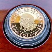 2016 William Shakespeare Tragedies Andpound2 Two Pound Gold Proof Coin Box Coa