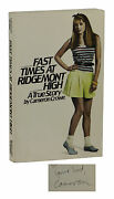 Fast Times At Ridgemont High Signed By Cameron Crowe First Edition 1st 1981 Pb
