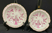 Pink Onion China--2 Tazzas--2 Sizes-lovely--possibly French--no Markings-