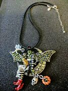 Kirks Folly Wicked Witch Pin/pendant On Black Cord Necklace Nwot