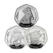 Dinosauria Collection 2020 50p Silver Proof - 3 Coin Series