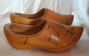 Vintage 1950s Hand-carved Wooden Shoes From Holland L. 10 Souvenir_sale Was 40