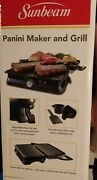 Sunbeam Panini Maker And Grill 2 In 1 Non-stick Tabletop Grill Brand New