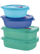 Newniptupperware 8pc Crystalwave Plus Steam Vent W/seals Microwave Stain Guard