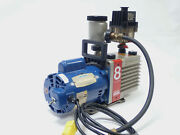 Edwards E2m8 Dual Stage Rotary Vane Vacuum Pump W Leeson 1/2 Hp Motor Tested