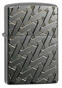 Zippo Armor Windproof Deep Carved Geometric Weave Lighter 49173 New In Box