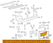 Toyota Oem Land Cruiser Rear Bumper-access Or Tow Hitch Cover Panel 5216960070b1