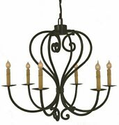 25 Corinna Chandelier Hand-forged Spanish Colonial