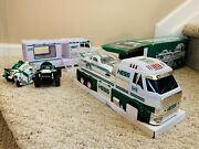 Hess 2016 Truck W/ Dragster Nib +2018 Truck W/ Dune Buggy +rare 1998and2004 Cycles