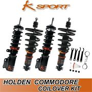 Ksport Coilovers Fully Adjustable Suspension Kit Fit Holden Vf Commodore