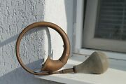 Antique Vintage Old Carriage Car Brass Tube Horn 1900years