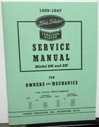 1939-47 Ford Model 9n And 2n Tractor Service Shop Manual Ferguson System New Repro