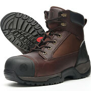 Menand039s Work Boots Composite Toe Anti-water/oil/puncture Best True Leather Quality