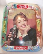 1950and039s Drink Coca Cola Heavy Menu Girl Tray All Original Best One On Ebay