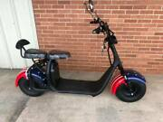 Soversky Electric Bike Fat Tire Citycoco Scooter 2000w Lithium Ebike X7 Us Flag