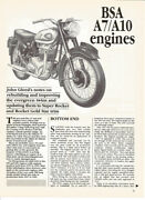 Bsa A7 A10 Engine Update To Super Rocket And Gold Star Spec Article Pdf