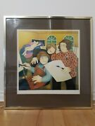 Beryl Cook Signed Limited Edition Print In Gold Frame 'art Class' 65×62cm 1979