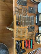 Huge Lot Vtg Lionel Model Railroad Train Cars Freight Tankers Tracks Switches