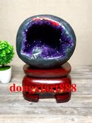 31 Cm Natural Amethyst Crystal Lucky Feng Shui Specimen Energy Heal Statue F043