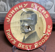 Vintage 1913 Chicago Cubs Johnny Evers Day Button Pin From Troy Ny Rare