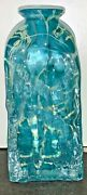 Isle Of Wight Glass Signed Trial Bark Vase