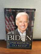 Promises To Keep On Life And Politics By Joe Biden 2008 Trade Pb Signed