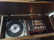 Vintage Victrola Rca Victor Record Player Tuner And Satellite Speakers