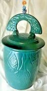 Jms Pottery Studio Decorative Ceramic Urn With Lidtwo Toned Signed Eclectic