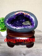 29 Cm Natural Amethyst Crystal Lucky Feng Shui Specimen Energy Heal Statue F046
