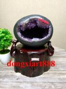 28 Cm Natural Amethyst Crystal Lucky Feng Shui Specimen Energy Heal Statue F052