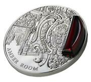 Niue 2012 2 Mysteries Of History - Amber Room 2 Oz Silver Coin With Inlay