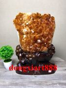 45 Cm Natural Amethyst Crystal Lucky Feng Shui Specimen Energy Heal Statue F097