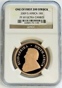 2009 Gold South Africa Krugerrand 1 Oz Coin Ngc Proof 69 Ultra Cameo