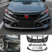 Fit For Honda Civic Fc-450 2016-20 Front Skid Plate Bumper Board Guard Unpainted