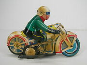 Vintage Made In China Tin Wind Up Toys Ms 702 1970-80s Motorcycle Racer 26