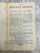 The Miners Guide Or Compleat Miner By William Hardy The Second Edition