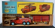Vintage Corgi Major Toys Chipperfield's Circus Crane Truck And Cage No.12