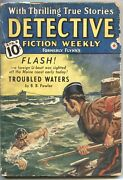 Detective Fiction Weekly 8/4/1934-red Star---u Boat Cover-mystery And Crime Pul...