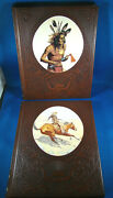 Set Of 2-cowboys And Indians-the Old West Time Life Books Leather Cowboy Indian