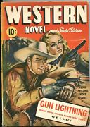 Western Novels And Stories--apr 1943-saucy Girl Art Pulp Cover--allen Anderson