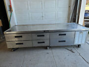 Delfield 6 Drawer Refrigerated Grill Base 4 Full Size 2 Half Size Tested