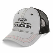 Ford Power Stroke Diesel Gray And Black Mesh Hat