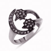 1.75ct Clear Genuine Old Mine Rose Cut Diamond Silver Vintage Style Ring Jewelry
