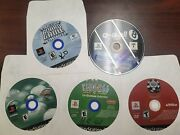 Ps2 Lot Of 5 Games Q-ball, Real Pool, Pinball, Board Game, World Series Of Poker