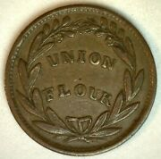 Civil War Token Store Card D L Wing And Co Albany Ny Union Flour You Grade Bronze