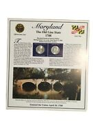 2000 Maryland State Quarters /stamps Panel By Postal Commemorative Society