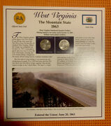 2005 West Virginia State Quarters /stamps Panel By Postal Commemorative Society